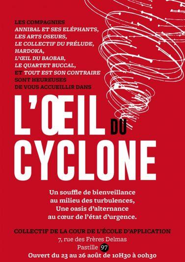 Affiche Collectif L'Oeil du Cyclone avec L'Auto Studio au Festival d'Aurillac